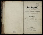 Title page to Das Kapital, volume 1