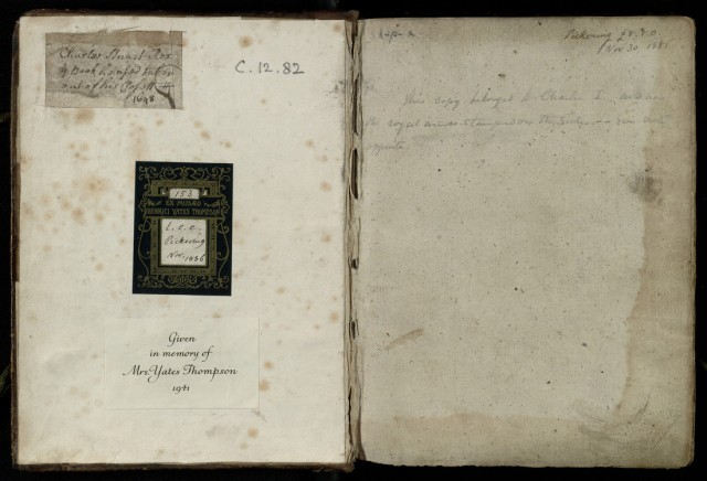Inside front cover with inscription