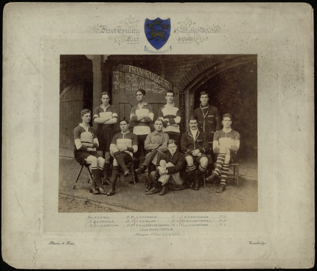 Photograph of a rowing team.