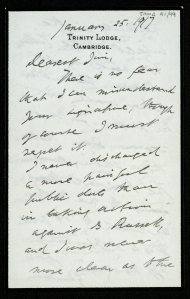Letter dated 1916