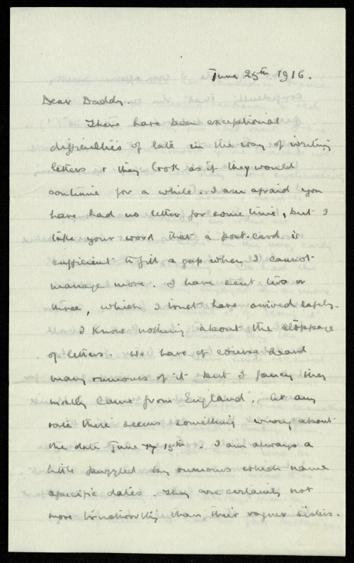 Letter, 1916