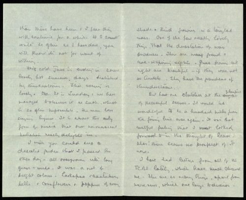 Page two of Gilson's last letter to Estelle.
