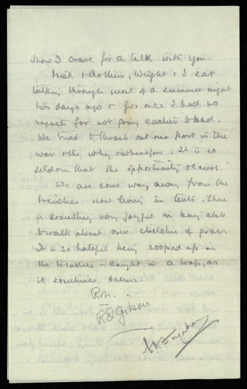 Page 3 of Gilson's last letter to Estelle.