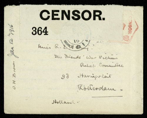 Envelope opened by censor