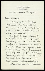 Letter, 1914