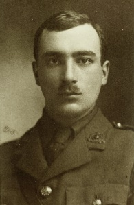 Photograph of Gilson in his military uniform