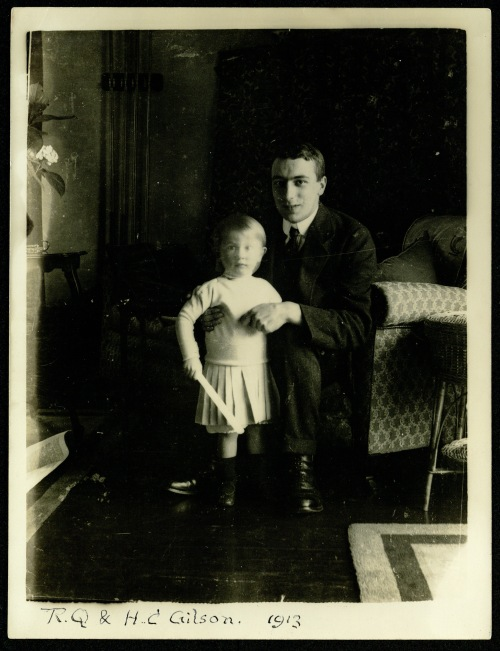 Photograph of a young boy and a young man, 1913