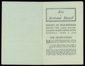 Pamphlet: Rex vs. Bertrand Russell
