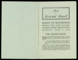 Pamphlet: Rex vs. Bertrand Russell