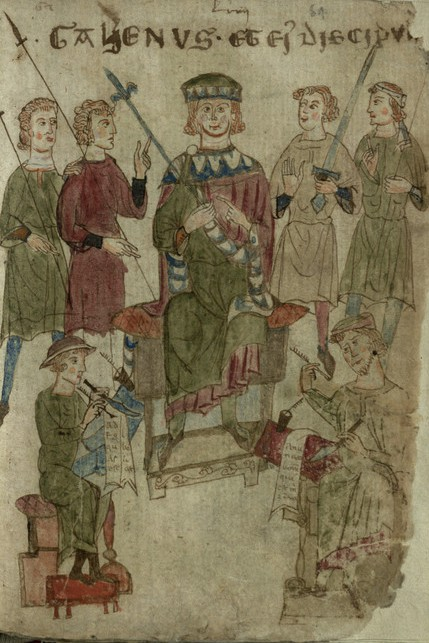 """""""Galenus et eius discipuli"""", f. 64r"""