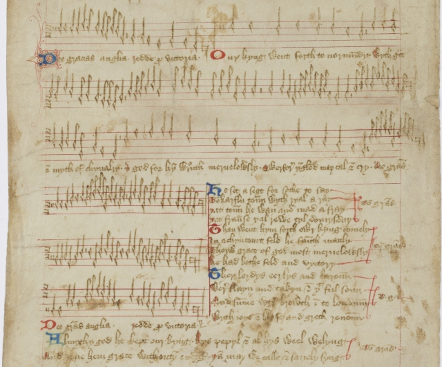 Manuscript of musical notation