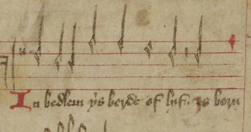 Manuscript of musical notation