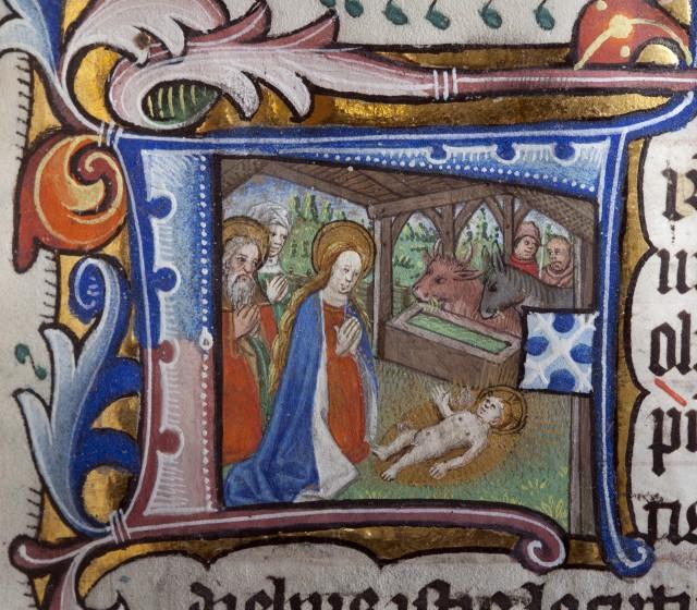 Illuminated manuscript initial