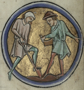 Digging and planting - Trin MS B.11.4