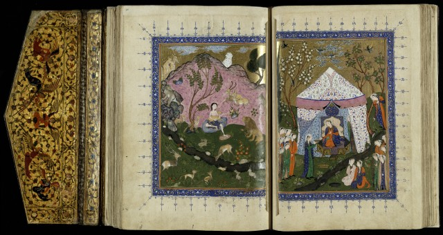 Two pantings from Layli and Majnun