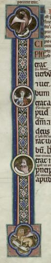 Evangelist symbols in roundels. B.5.3, f.187v