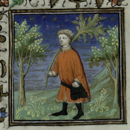 Enjoying the country or returning from a pilgrimage? From Trin MS B.11.31 f.4r.