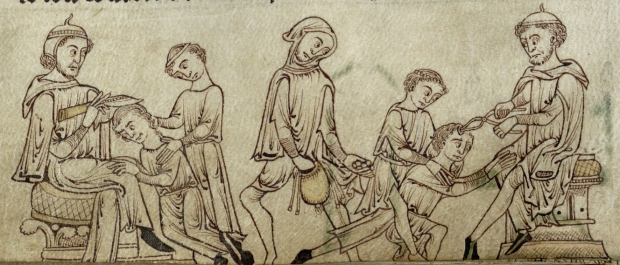 Treating cranial fissures. (f. 243v)