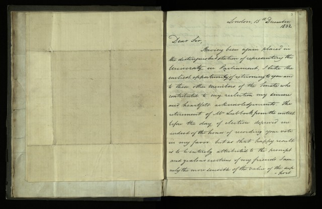 Circular letter from Henry Goulburn to William Whewell, 15 December 1832 [R.1.76, item 3]