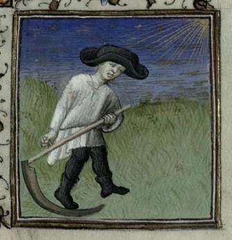 Harvesting the Hay. Trin MS B.11.31