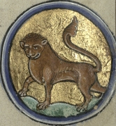 Leo from Trin MS B.11.4, f iv recto.