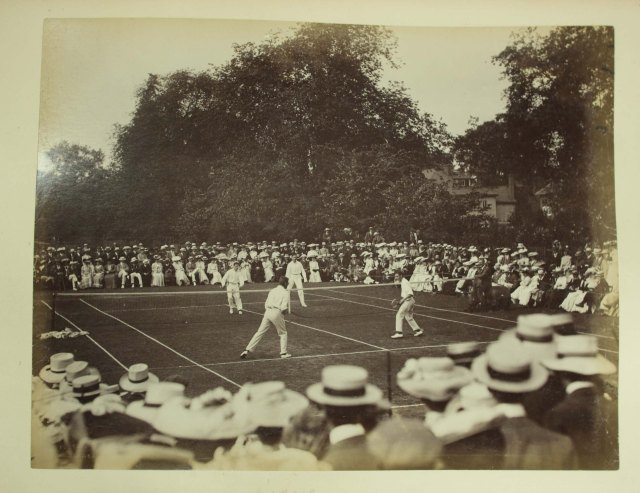 Tennis Match at Trinity, 1906