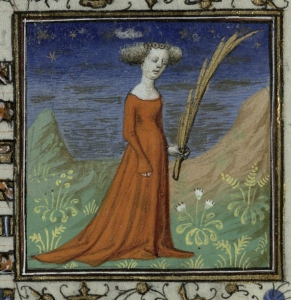 Virgo. Trin MS B.11.31, f.8r