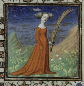 Virgo. Trin MS B.11.31, f.8r