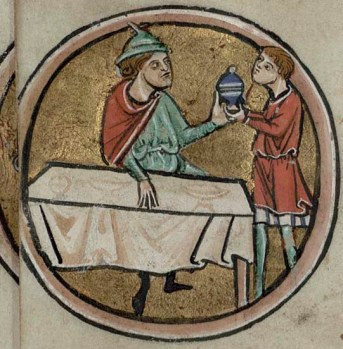 Closer to most of our hearts this month is the Labour of the Month from Trin MS B.11.4, f.vi verso, feasting.