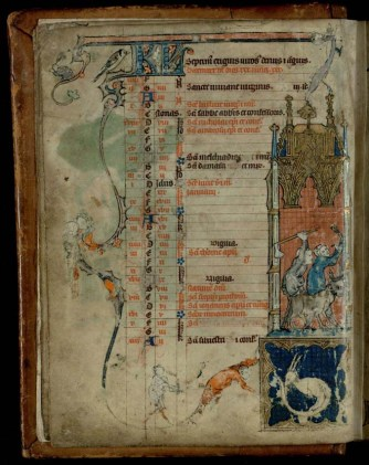 The December page from Trin MS B.11.22.