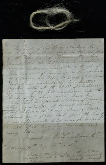 Letter with a Lock of Isaac Newton's Hair