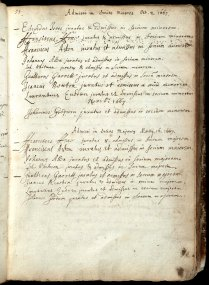 A Page from the College Admission Book (1667) with Isaac Newton's signature