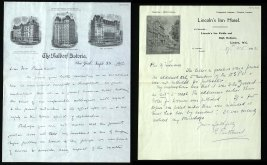 v) DIVISION: As a result of their objections to violent protest the Pethick-Lawrences were induced to leave the WSPU, though they continued to edit Votes for Women. These are two of the letters exchanged between the two Emmelines (Pethick-Lawrence and Pankhurst) at this time.