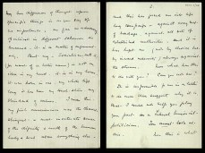 """i) PASSION: Emmeline's letter to Fred on 27 June 1901, just after his first proposal of marriage, contains a heartfelt declaration of her commitment to socialism: """" ... my first consciousness was the clearest, strongest & most inveterate sense of the dignity & worth of the human body & soul above everything else ~ and this has forced me into life long campaign ~ against every sort of bondage, against all sorts of established authorities: and it is [this which] has kept me (not by choice but by inward necessity) always against the stream … This is the great contest of the coming century: the life and death struggle of human life against material mastery. """""""