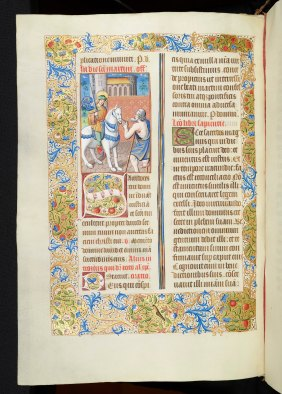 Day 14_St Martin giving half of his cloak to a beggar from a 16th-century Missal (R.17.22, f.207v)