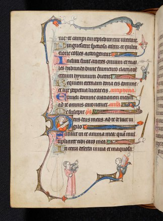 Day 20_Illuminated border with musicians from a Flemish Book of Hours (B.11.22, f.91v)