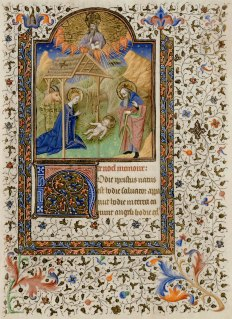 Day 23_Nativity from a 15th-century Book of Hours (B.11.32, f.131r)