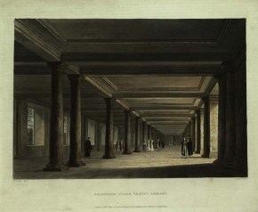 Colonade under the Library