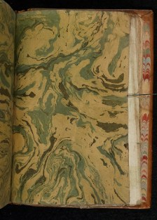 Drawn marbled paper: f41-interleaf2r